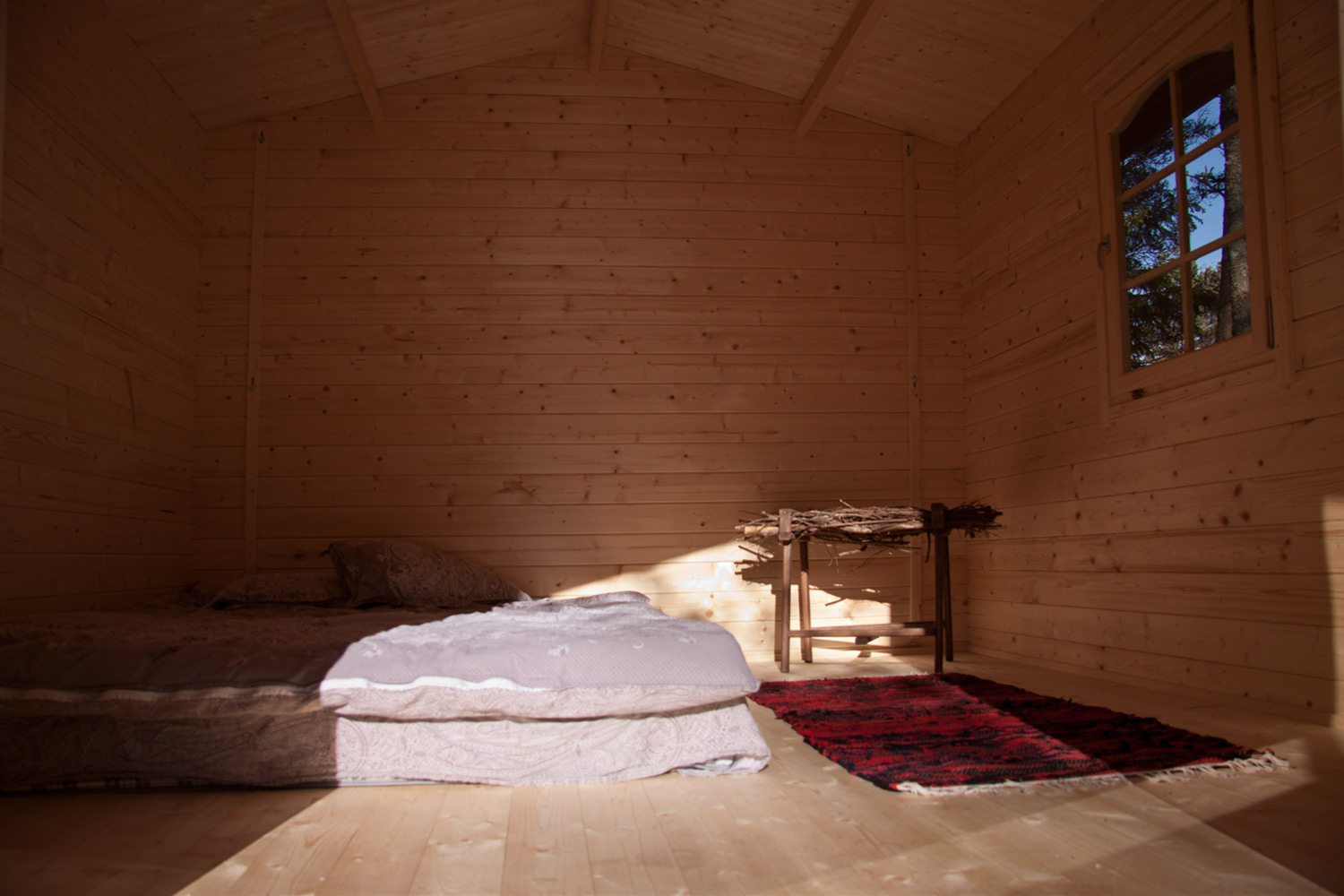 Camping house inside