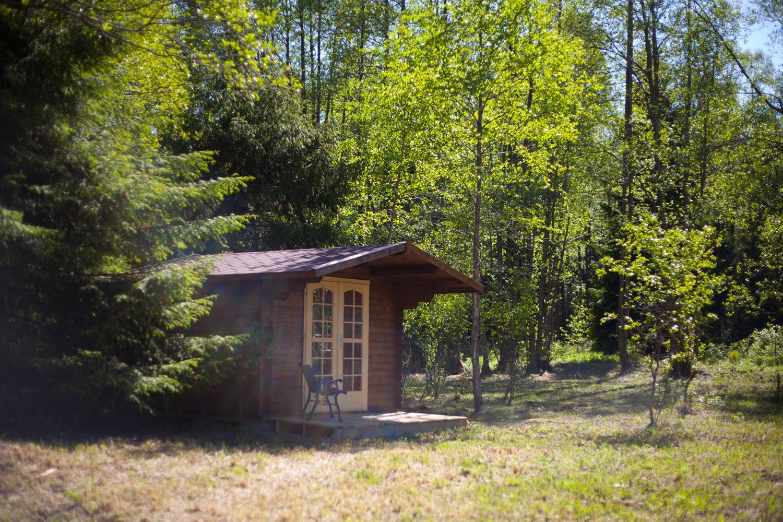 Кемпинговый домик снаружи
