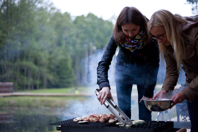 Приготовление еды на гриле