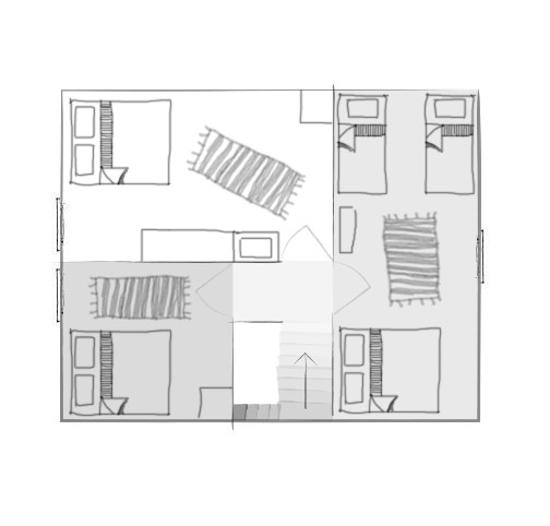 План второго этажа большого дома