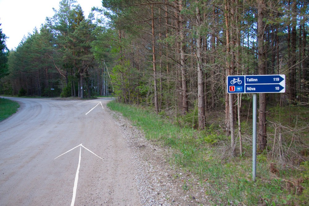 "Soon a sign ""Tallinn 119, Nõva 10"" will appear"