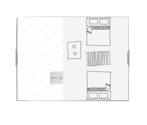 Väike maja 2. korrus